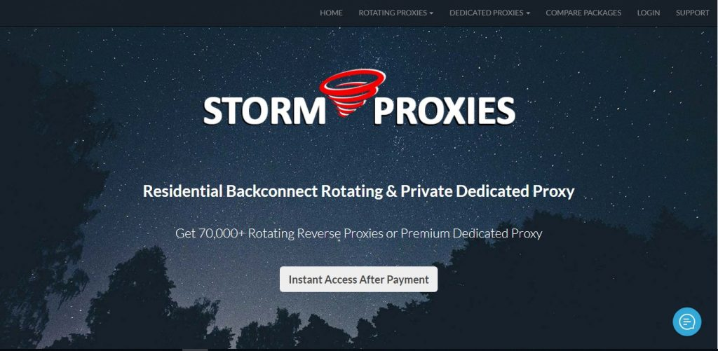 Storm Proxies Unlimited bandwith